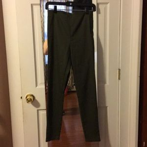 H&M High Waisted Olive Green Pants 6
